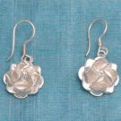 Sterling Silver Floral Dangle Earrings Taxco Mexico 925