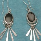 Sterling Silver Dangle Earrings With Onyx Mexico .925