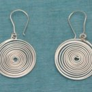 Sterling Silver Spiral Dangle Earrings .925 Taxco Mx