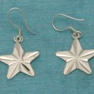 Sterling Silver Star Dangle Earrings .925 Taxco Mexico