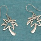 Sterling Silver Palm Tree Dangle Earrings .925 Taxco Mx
