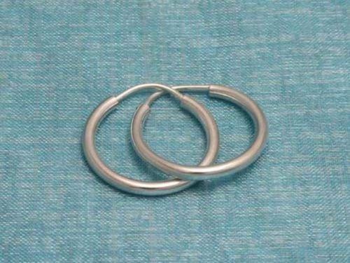 Sterling Silver Hoop Earrings .925 Taxco Mexico