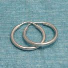 Sterling Silver Hoop Earrings .925 Taxco Mexico