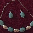 Mexican Sterling Silver Deco Earrings & Necklace Set
