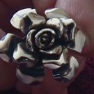 Sterling Silver Rose Deco Ring Taxco Mexico .925 New