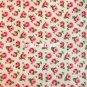 Button Rose White 1 M ~ Cath Kidston Cotton Duck Fabric
