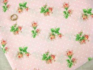 Rose Sprig Pink FQ ~ Cath Kidston Haberdashery Fabric