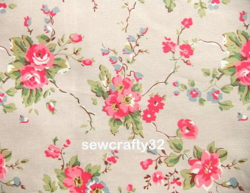 Summer Blossoms on Stone 93cm ~ Cath Kidston Cotton Duck Fabric