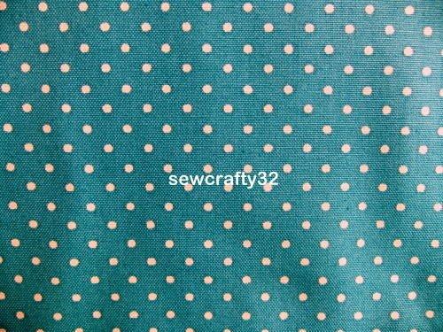 Mini Dot Petrol FQ ~ Cath Kidston Cotton Duck Fabric
