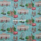 London Blue 1 M ~ Cath Kidston Cotton Duck Fabric
