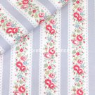 Lace Stripe Grey 1.36 M ~ Cath Kidston Cotton Duck Fabric