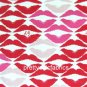 Lip Blot Lulu Guiness Cotton Canvas Fabric ~ 1 M