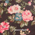 Winter Meadow Brown Rayon Velvet 1 M ~ Cath Kidston Fabric