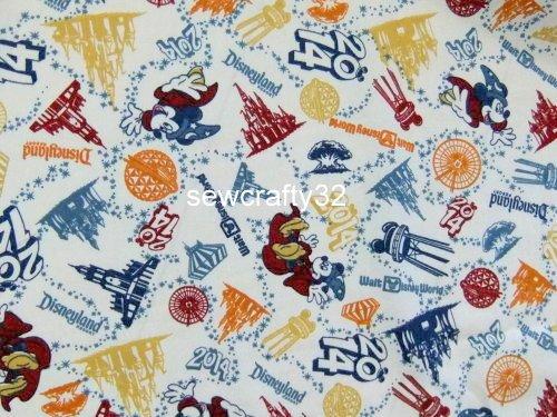 2014 Disney Sorcerer Mickey Wizard Cotton Fabric Bty