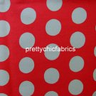 Big Spot Red 1 M ~ Cath Kidston Cotton Duck Fabric