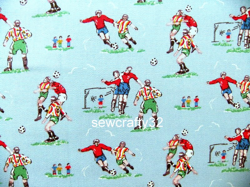 Football Blue 1 M ~ Cath Kidston Cotton Duck Fabric