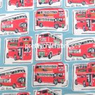 London Bus Brushed Cotton ~ Cath Kidston Nightwear Fabric 1M