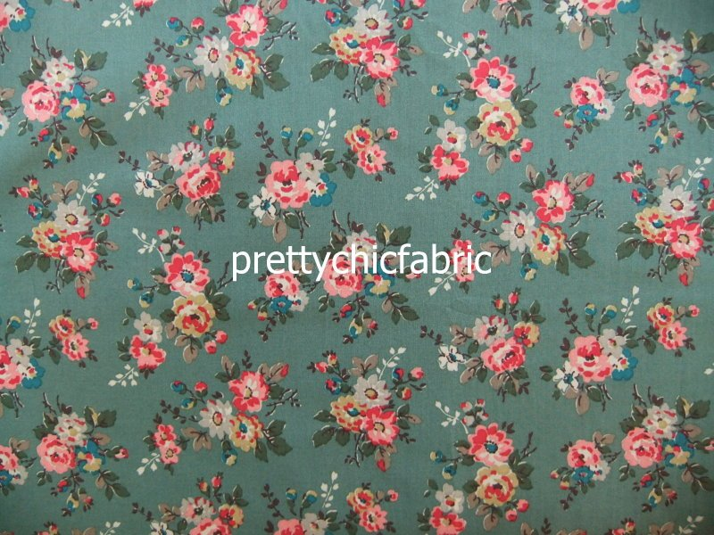Kingswood Rose Khaki 1 M ~ Cath Kidston Haberdashery Fabric