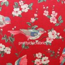 2015 Garden Bird Red Cotton Duck 1 M ~ Cath Kidston