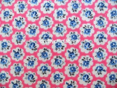 2015 Provence Rose Pink/Blue Cotton Duck 1 M ~ Cath Kidston