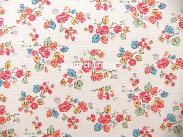 2015 Woodland Rose Bright Cotton Duck 1 M ~ Cath Kidston