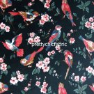 British Bird Black Cotton Velvet 1 M ~ Cath Kidston
