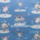 Ballerinas Blue Cotton Duck 1 M ~ Cath Kidston