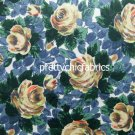 Oxford Rose Navy Cotton Duck 1 M ~ Cath Kidston