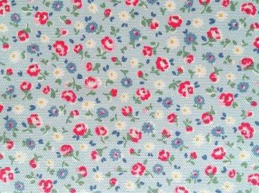Little Flower Buds Blue Cotton Duck 1 M ~ Cath Kidston