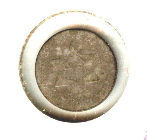 1853 (VG) 3 CENT PIECE (B37) SILVER
