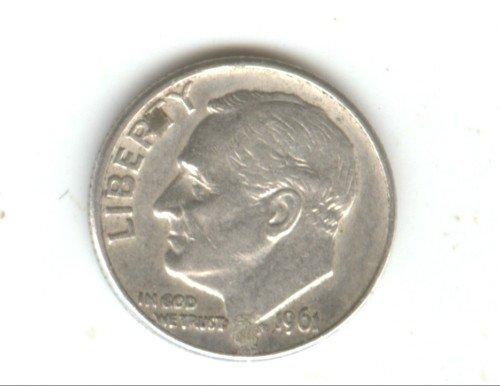 1961D (XF) ROOSEVELT DIME (W91) SILVER