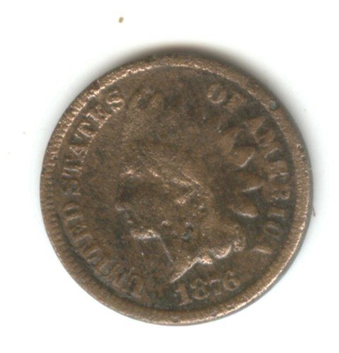 1876 (G) INDIAN HEAD PENNY (W155)