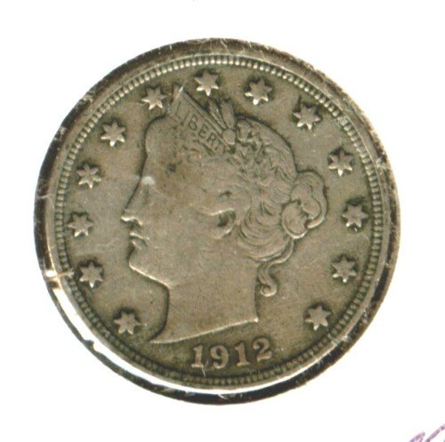 1912 (VF) LIBERTY NICKEL (M02)