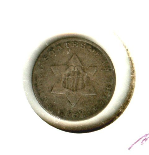1853 (F) 3 CENT PIECE (M03) SILVER