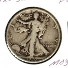 1920D (F++)  WALKING LIBERTY HALF DOLLAR (M03) SILVER
