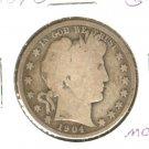 1904O (G+) BARBER HALF DOLLAR (M04) SILVER
