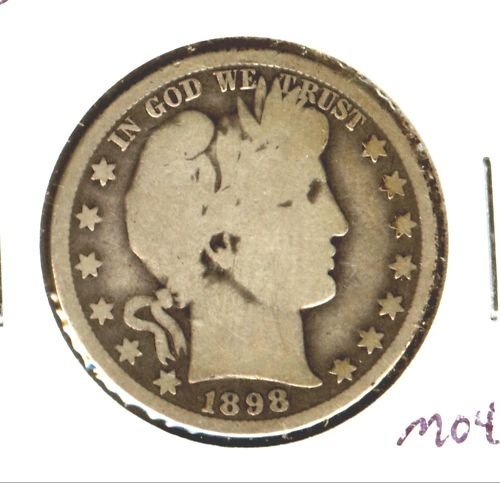 1898O (G+) BARBER HALF DOLLAR (M04)