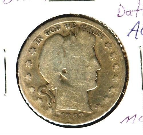1892S (AG) BARBER HALF DOLLAR (M05) KEY DATE