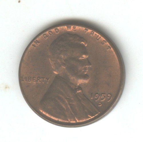 1959D (BU) LINCOLN MEMORIAL PENNY (EB1536)