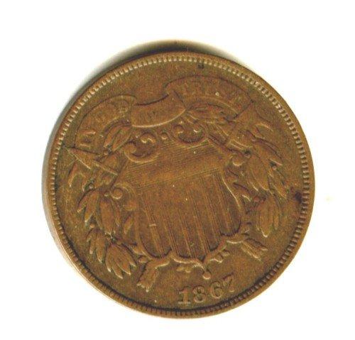 1867 (VF+) 2 CENT PIECE (M06)