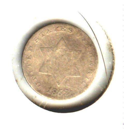 1852 (VG) 3 CENT PIECE (M05) SILVER