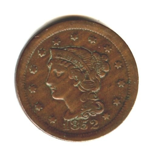 1852 (VF) LARGE CENT (M05)