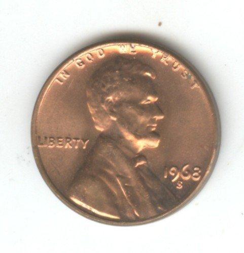 1968S  BU Lincoln Memorial Penny Cent  (EB1511)