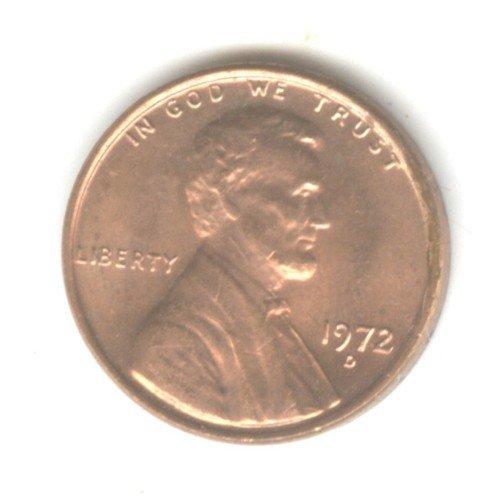 1972D BU Lincoln Memorial Penny Cent (EB1496)