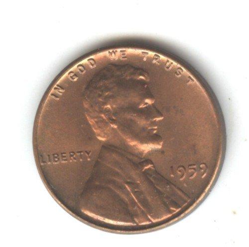 1959 (BU) LINCOLN MEMORIAL PENNY (EB1460)