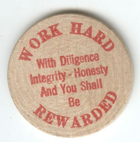WOODEN TOKEN (WORK HARD) EB1491