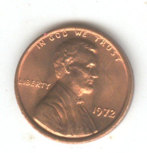 1972P BU Lincoln Memorial Penny Cent (EB1472)