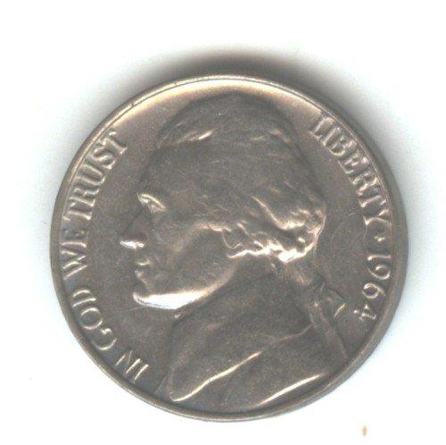 1964P (BU)  JEFFERSON NICKEL (EB1487)