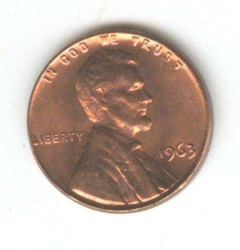 1963P (BU) CHOICE  Lincoln Memorial Cent (EB1483)
