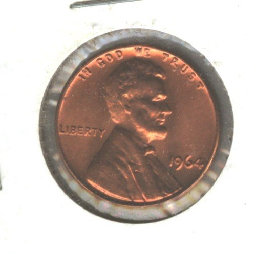1964P  BU Lincoln Memorial Penny Cent US Coin (EB1467)